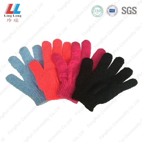 四色沐浴手套