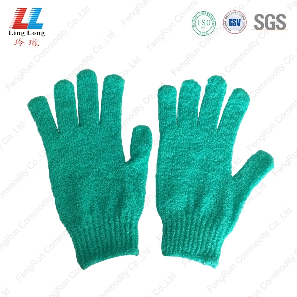 天蓝色沐浴手套
