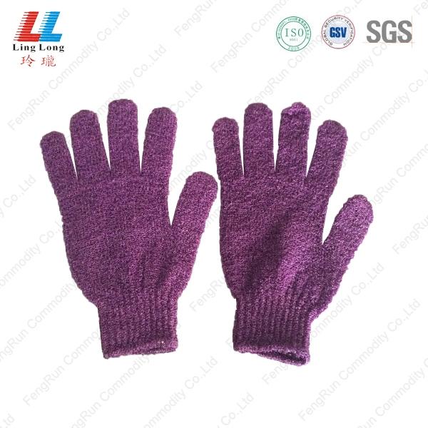 紫色沐浴手套